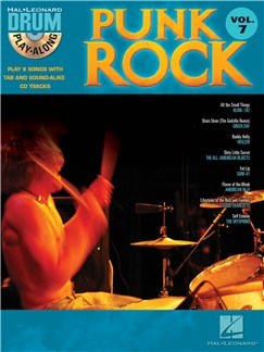 Drum Play-Along Volume 7: Punk Rock Books and CDs | Drums