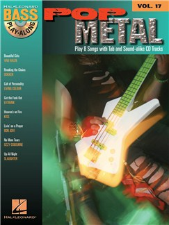 Bass Play-Along Volume 17: Pop Metal Books and CDs | Bass Guitar Tab
