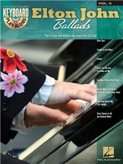 Keyboard Play-Along Volume 9: Elton John Ballads Books and CDs | Piano