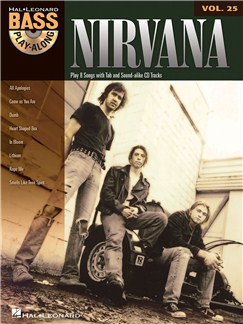 Bass Play-Along Volume 25: Nirvana CD et Livre | Tablature Basse
