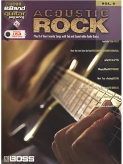Boss eBand Guitar Play-Along Volume 6: Acoustic Rock Books and Digital Audio | Guitar Tab, Guitar