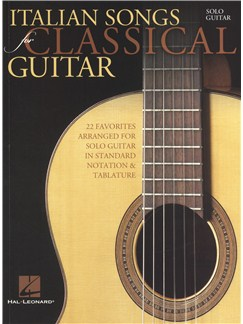 Italian Songs For Classical Guitar Books | Guitar Tab, Classical Guitar
