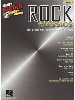 Easy Guitar Play-Along Volume 1: Rock Classics Books and CDs | Guitar Tab, Guitar
