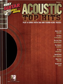 Easy Guitar Play-Along Volume 2: Acoustic Top Hits Books and CDs | Guitar Tab, Guitar