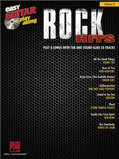 Easy Guitar Play-Along Volume 3: Rock Hits Books and CDs | Guitar Tab, Guitar