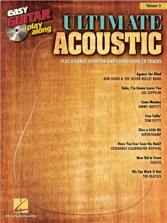 Easy Guitar Play-Along Volume 5: Ultimate Acoustic Bog og CD | Guitar Tab, Guitar