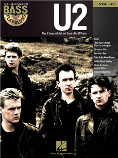 Bass Play-Along Volume 41: U2 CD et Livre | Tablature Basse, Guitare Basse