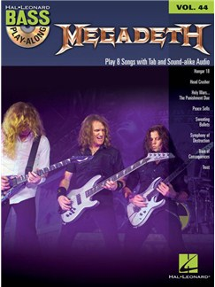 Bass Play-Along Volume 44: Megadeth Livre | Guitare Basse