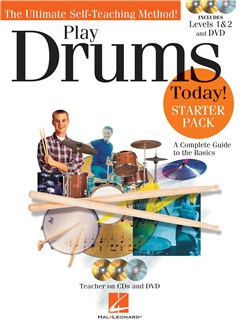 Play Drums Today! Starter Pack Books, CDs and DVDs / Videos | Drums