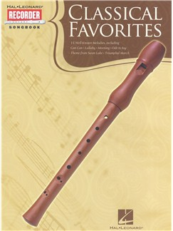 Classical Favorites: Recorder Songbook Livre | Flûte à Bec Descant