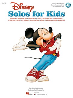 Disney Solos For Kids (Book/Online Audio) Books and Digital Audio | Piano, Voice, Guitar (with Chord Symbols)