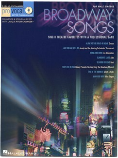 Pro Vocal: Broadway Songs - For Male Singers Books and CDs | Tenor, Baritone or Bass