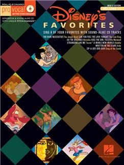 Pro Vocal Men's Edition Volume 17: Disney Favourites Books and CDs | Voice