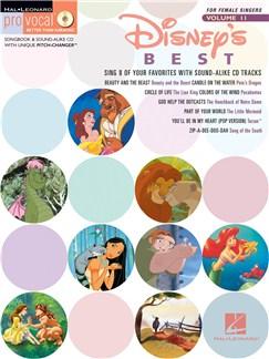 Disney's Best (Female Singers) Books and CDs   Melody Line, Lyrics & Chords