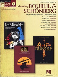 Pro Vocal Volume 14: Musicals Of Boublil And Schönberg (Women's Edition) Books and CDs | Voice, Piano Accompaniment