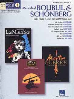 Pro Vocal Vol.18: Musicals Of Boublil And Schonberg (Men's Edition) Books and CDs | Tenor, Baritone or Bass