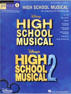 Pro Vocal Volume 28: High School Musical (Male Edition) Books and CDs | Voice