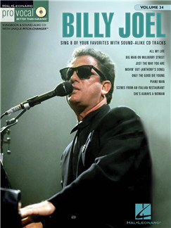 Billy Joel: Pro Vocal Men's Edition Volume 34 Books and CDs | Melody Line, Lyrics & Chords (with Chord Symbols)