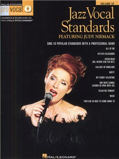 Pro Vocal Volume 18: Jazz Vocal Standards Featuring Judy Niemack Books and CDs | Voice