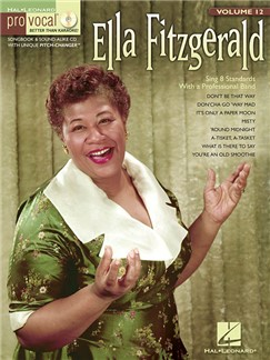 Pro Vocal Women's Edition Volume 12: Ella Fitzgerald (Book/CD) Books and CDs | Voice