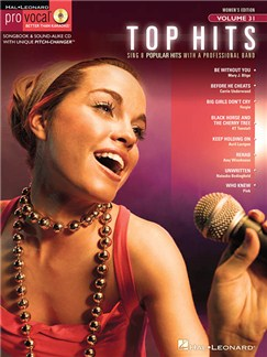 Pro Vocal Volume 31: Top Hits Books and CDs | Voice