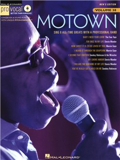 Pro Vocal Men's Edition Volume 38: Motown Books and CDs | Voice