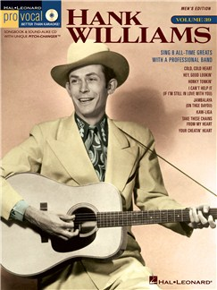 Pro Vocal Vol.39: Hank Williams (Men's Edition) Books and CDs | Tenor, Baritone or Bass Voice