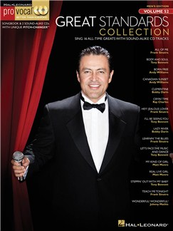 Pro Vocal Men's Edition Volume 52: Great Standards Collection Books and CDs | Low Voice