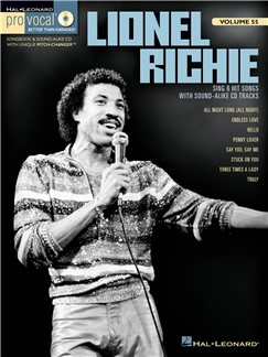 Pro Vocal Men's Edition Volume 55: Lionel Richie Books and CDs | Voice
