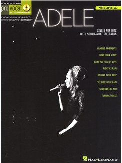 Pro Vocal Volume 56: Adele Books and CDs | Voice