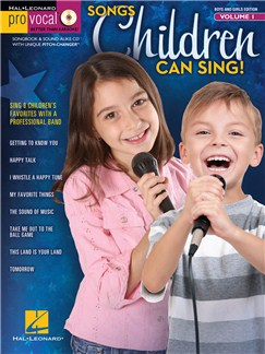 Pro Vocal Boys' & Girls' Edition Volume 1: Songs Children Can Sing! Books and CDs | Voice