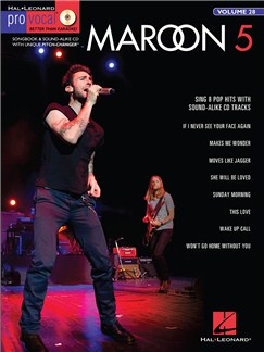 Pro Vocal Men's Edition Volume 28: Maroon 5 Books and CDs | Voice