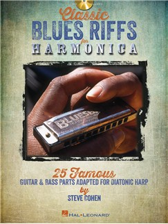 Steve Cohen: Classic Blues Riffs For Harmonica CD et Livre | Harmonica