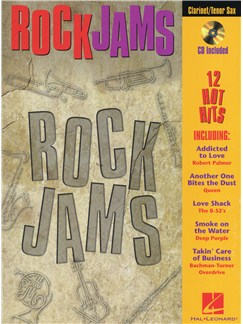 Rock Jams (Clarinet/Tenor Saxophone) Books and CDs | Clarinet, Tenor Saxophone