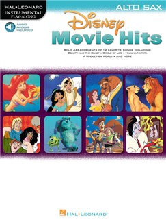 Disney Movie Hits (Alto Saxophone) (Book/Online Audio) Books and Digital Audio | Alto Saxophone