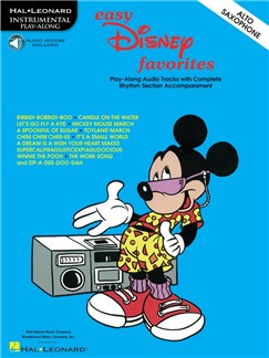 Easy Disney Favorites Alto Saxophone (Book/Online Audio) Books and Digital Audio | Alto Saxophone