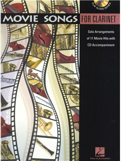 Movie Songs (Clarinet) Books and CDs | Clarinet