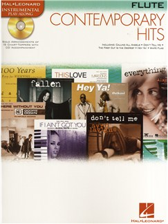 Instrumental Play-Along: Contemporary Hits (Flute) Books and CDs | Flute
