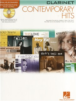 Instrumental Play-Along: Contemporary Hits (Clarinet) Books and CDs | Clarinet