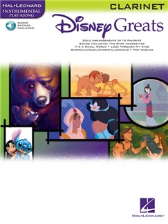 Disney Greats: Clarinet Audio Digitale et Livre | Clarinette