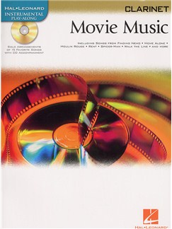 Hal Leonard Instrumental Play-Along: Movie Music (Clarinet) Books and CDs | Clarinet