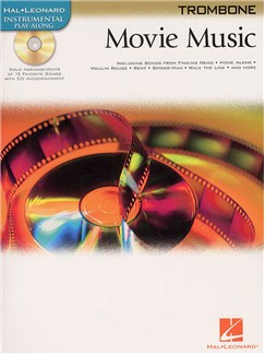 Hal Leonard Instrumental Play-Along: Movie Music (Trombone) Books and CDs | Trombone