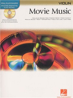 Hal Leonard Instrumental Play-Along: Movie Music (Violin) Books and CDs | Violin