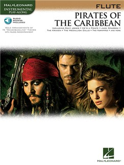 Klaus Badelt: Pirates Of The Caribbean (Flute) (Book/Online Audio) Books and Digital Audio | Flute