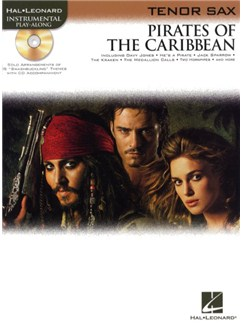 Klaus Badelt: Pirates Of The Caribbean (Tenor Sax) CD et Livre | Saxophone Tenor
