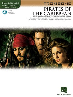 Klaus Badelt: Pirates Of The Caribbean (Trombone) (Book/Online Audio) Books and Digital Audio | Trombone