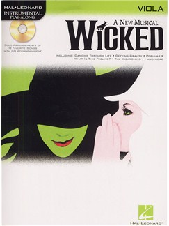 Hal Leonard Instrumental Play-Along: Wicked (Viola) Books and CDs | Viola