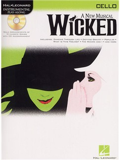 Hal Leonard Instrumental Play-Along: Wicked (Cello) Books and CDs | Cello
