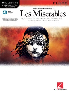 Les Miserables Play-Along Pack - Flute (Book/Online Audio) Books and Digital Audio | Flute