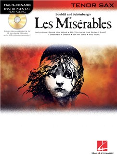 Les Miserables Play-Along Pack - Tenor Sax Books and CDs | Tenor Saxophone